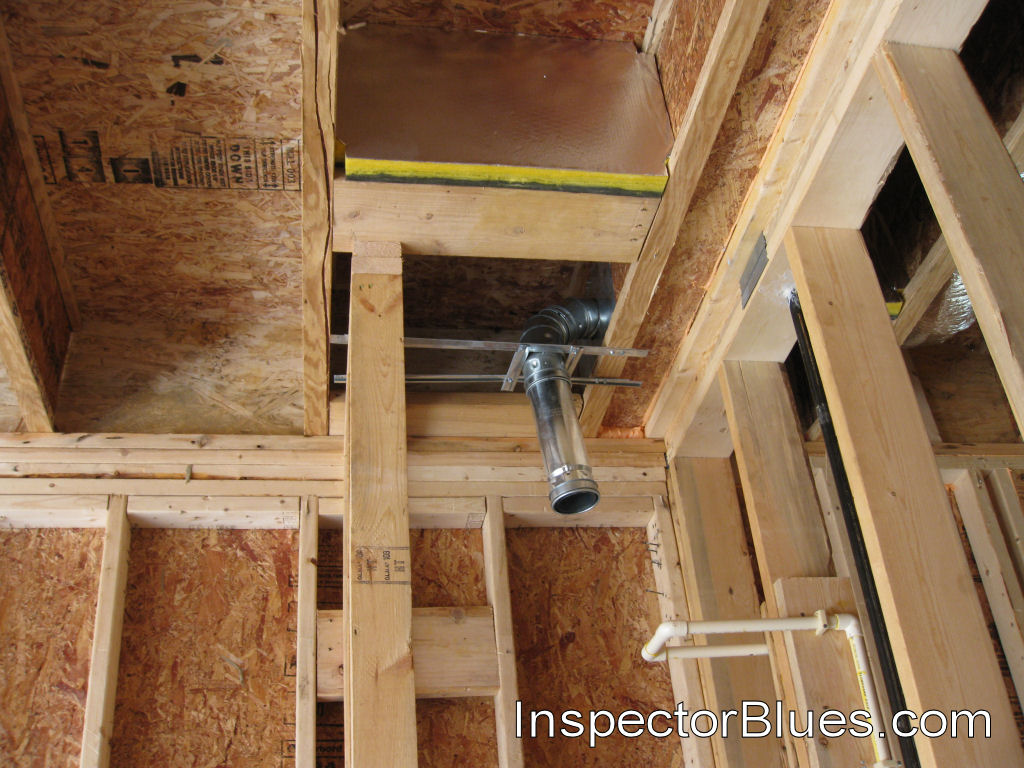 fire block between joist at vent pipe